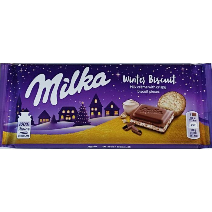 Milka  Winter Biscuit Tejes Krémtöltelékkel és Kekszdarabokkal 100g