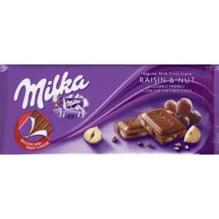Milka Mogyorós-mazsolás tejcsoki 100g
