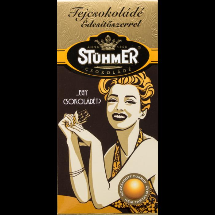 Stühmer Tejcsokoládé Édesítőszerrel 100g