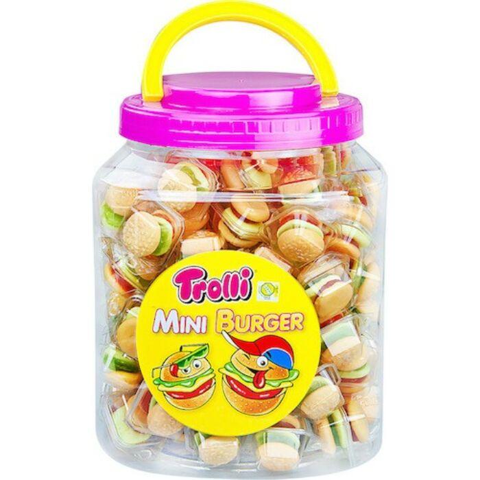 Trolli Burger gyümölcs ízű gumicukor 90X10g 900g