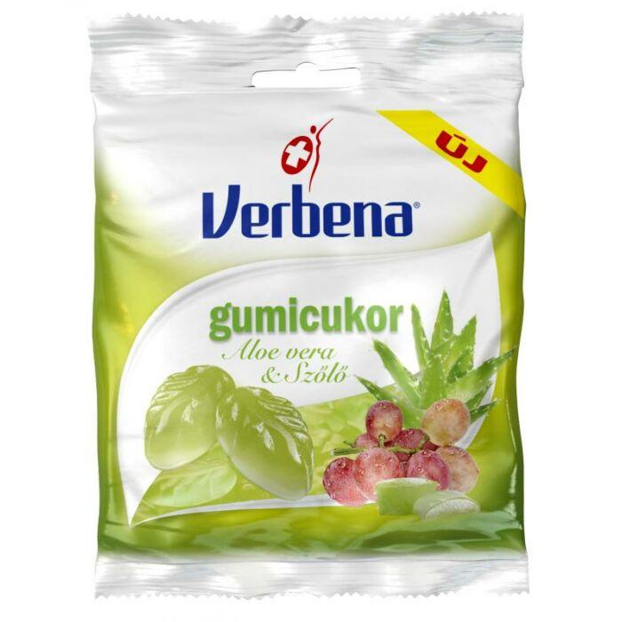 Verbena gumicukor Aloe vera-szőlő 60g