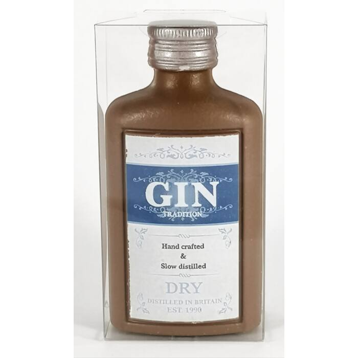 Gin Tradition Dekorált Tejcsokoládé Laposüveg 50g