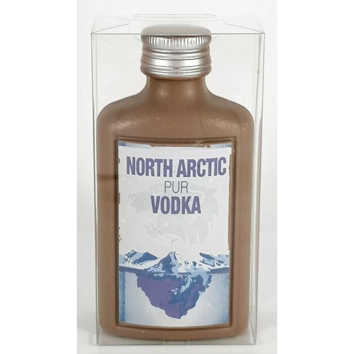 North Arctic Vodka Dekorált Tejcsokoládé Laposüveg 50g