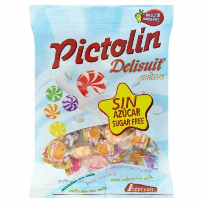 Pictolin  Delisuit Diabetikus Gyümölcsízesítésű-Tejszínes Cukorka Édesítőszerrel 65 g