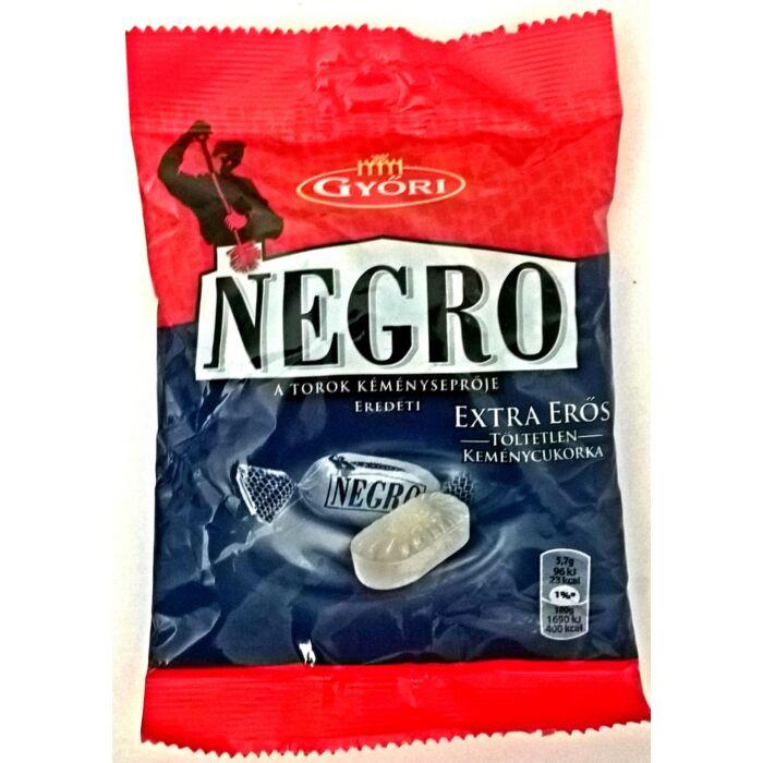Negro Extra Erős Töltetlen Keménycukorka 159g