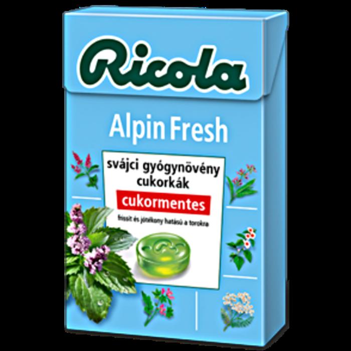 Ricola Alpin Fresh Gyógynövényes Cukormentes Cukorka 40g