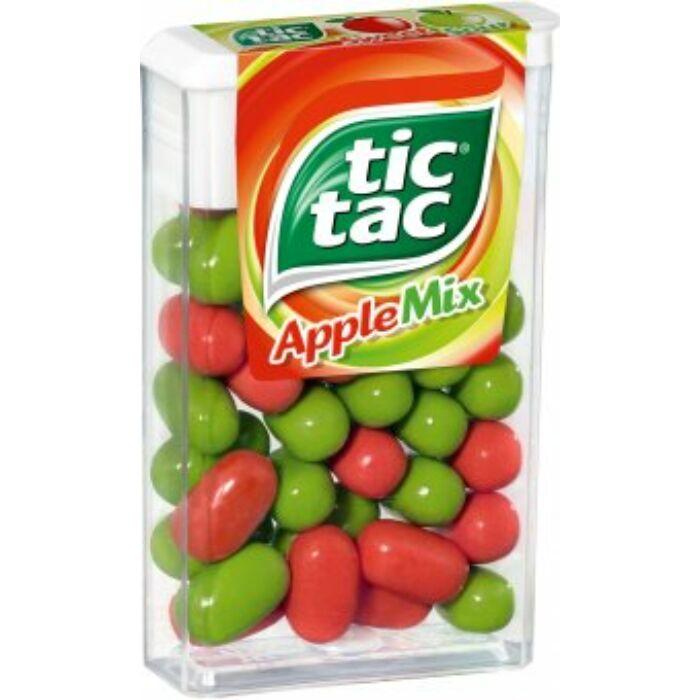 TicTac Apple Mix Almaízű Cukordrazsé 18 g
