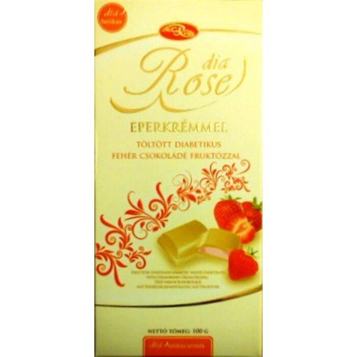 Dia Rose diabetikus epres fehércsoki, fruktózzal 100g