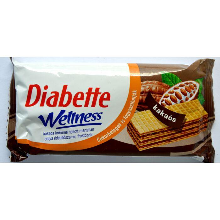 Diabette Welnes diabetikus kakaós krémmel töltött ostya 50g