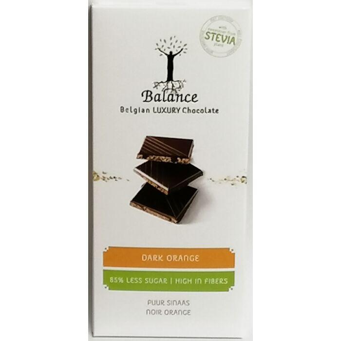 Balance Belga Luxury Narancsos Étcsokoládé Édesítőszerrel 85g