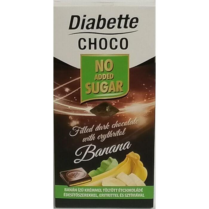 Diabette Choco Banán Ízű Krémmel Töltött Étcsokoládé Édesítőszerrel 80g
