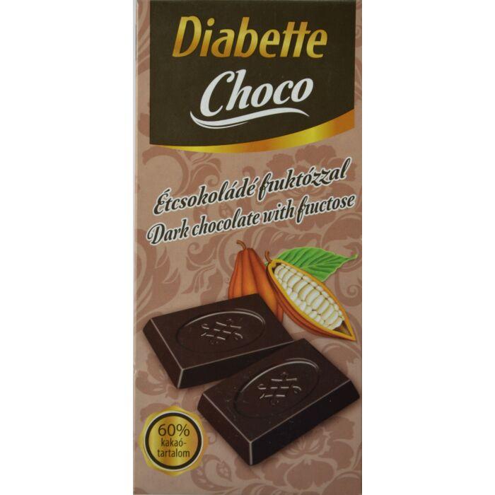 Diabette Choco Étcsokoládé fruktózzal 80g