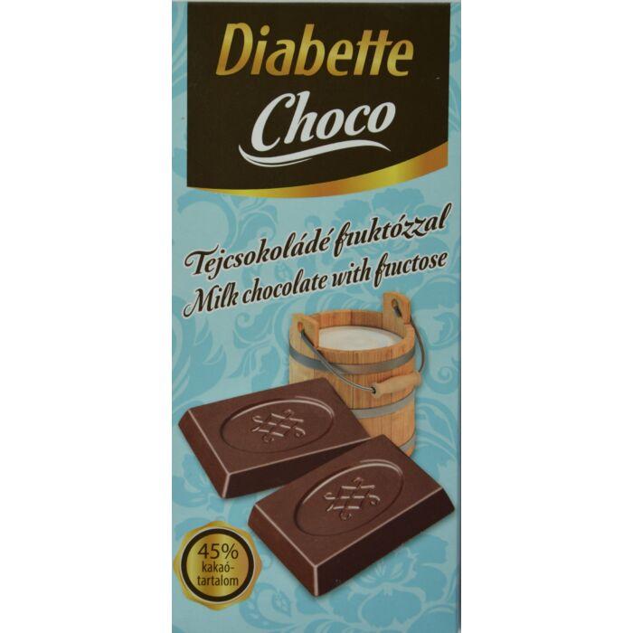 Diabette Choco Tejcsokoládé fruktózzal 80g