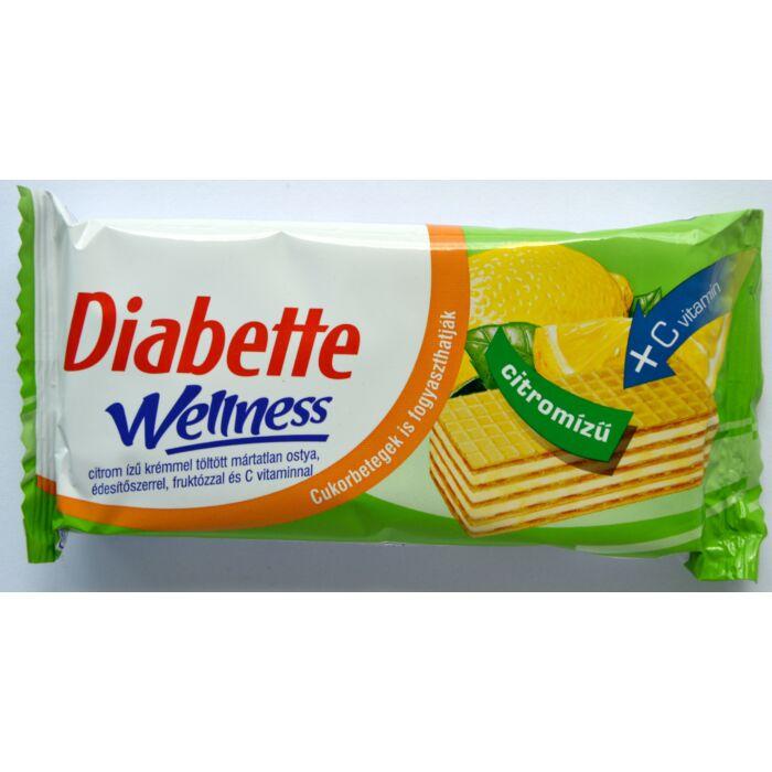 Diabette Welnes diabetikus citrom ízű krémmel töltött ostya 50g