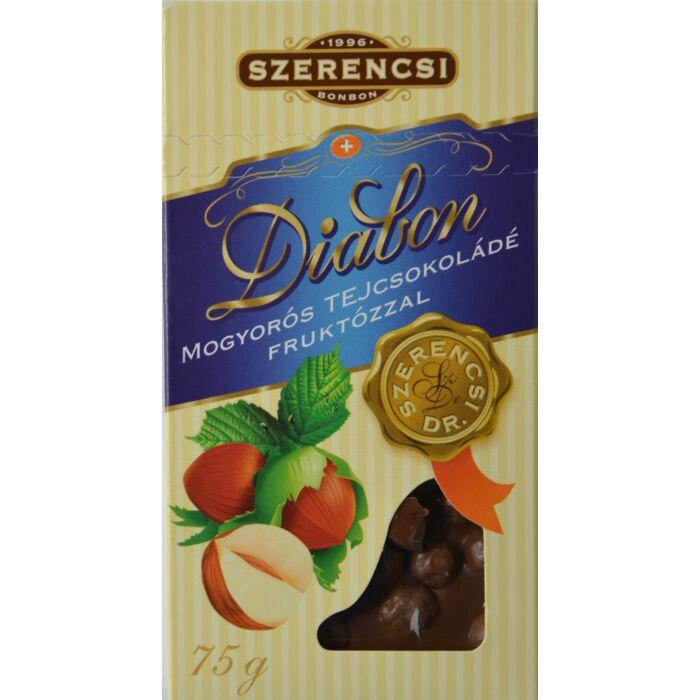 Szerencsi Diabon mogyorós tejcsokoládé fruktózzal 75g