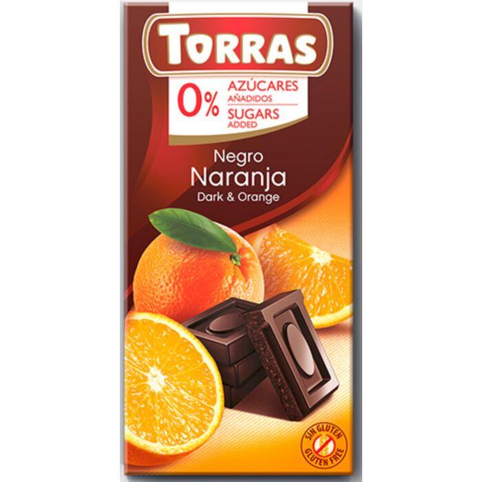 Torras Narancsos Gluténmentes Étcsokoládé Édesítőszerrel 75g