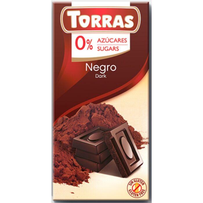 Torras  Gluténmentes Étcsokoládé Édesítőszerrel 75g