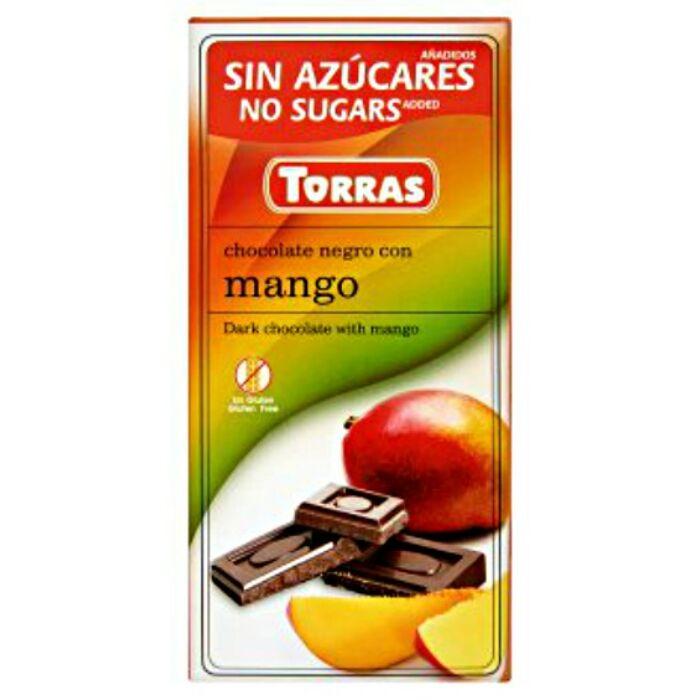 Torras Mangós Gluténmentes Étcsokoládé Édesítőszerrel 75g
