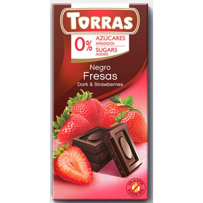 Torras Epres Gluténmentes Étcsokoládé Édesítőszerrel 75g