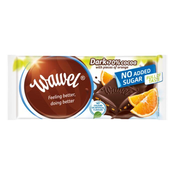 Wawel Diabetikus Narancsos Étcsokoládé Édesítőszerrel 100g