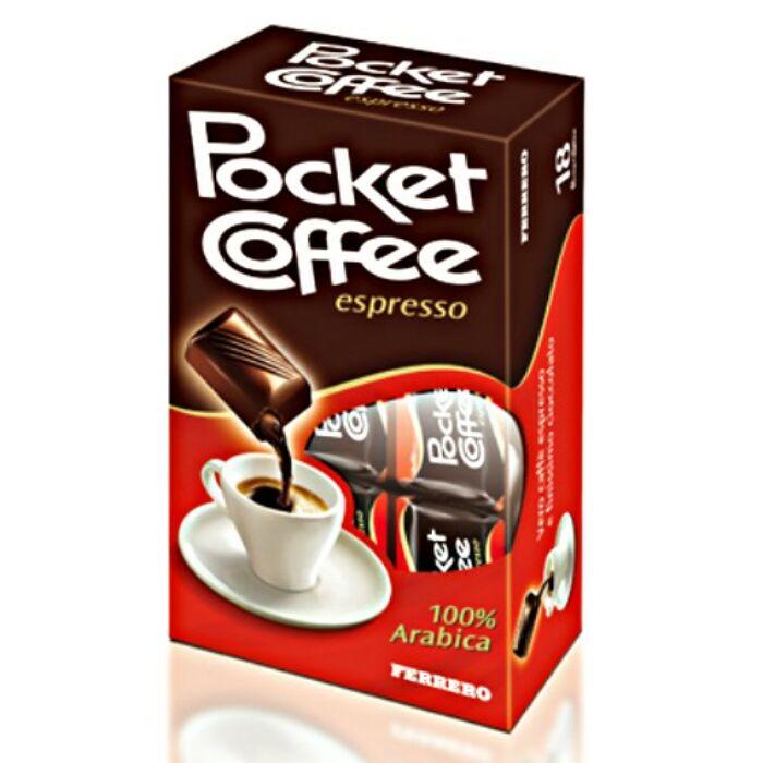 Pocket Coffee Espresso Csokoládé és Tejcsokoládé Praliné Kávéval 225 g (18 DB)