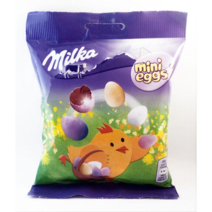 Milka Mini Eggs Tejcsokoládéval Töltött Drazsék 100g