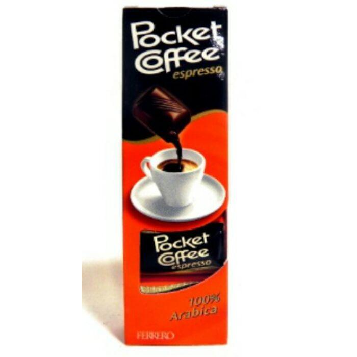 Pocket Coffee Espresso Csokoládé és Tejcsokoládé Praliné Kávéval 62,5g (5db)