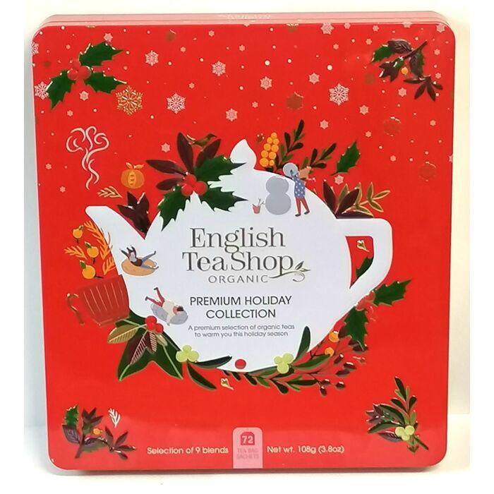 English Tea Shop Organic Fémdobozos Ünnepi Teaválogatás 108g