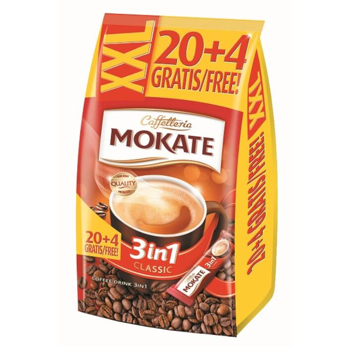 Mokate XXL 3in1 Azonnal Oldódó Kávéspecialitás (24x17g)