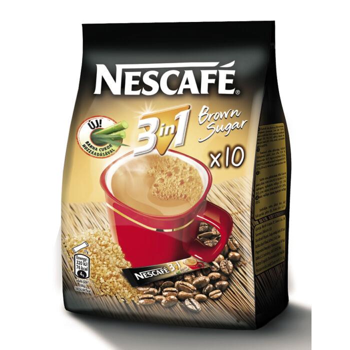 Nescafé 3in1 Brown Sugar Azonnal Oldódó Kávéspecialitás (10x16,5g)