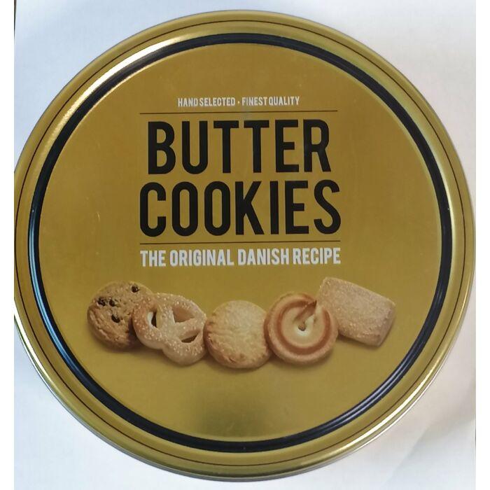 Butter cookies vajas keksz arany fémdobozban 454g