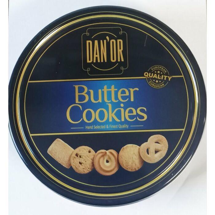 Butter cookies vajas keksz kék fémdobozban 454g