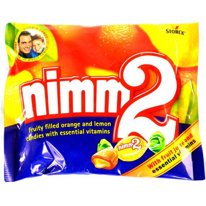 Nimm2 Smile  gyümölcsös töltött keménycukor narancs és citrom ízben vitaminokkal 90g