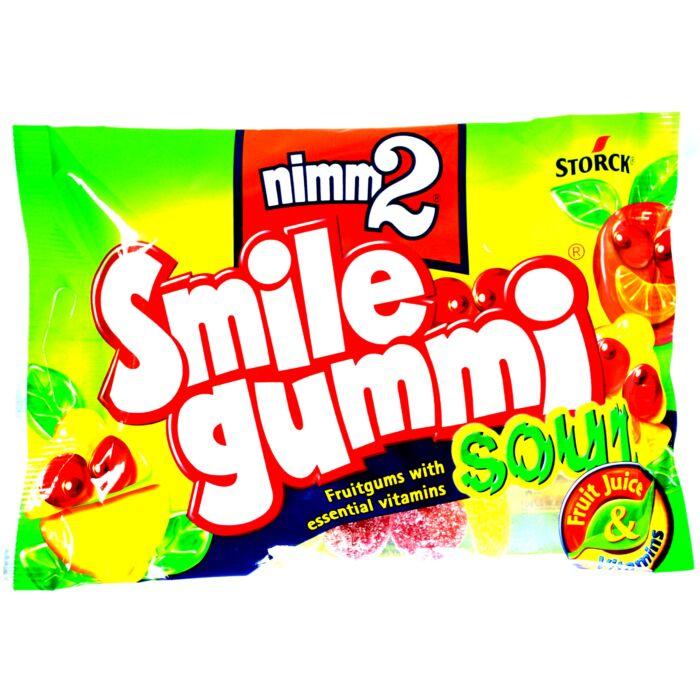 Nimm2 Smile vegyes gyümölcsízű savanyú gumicukor vitaminokkal 100g