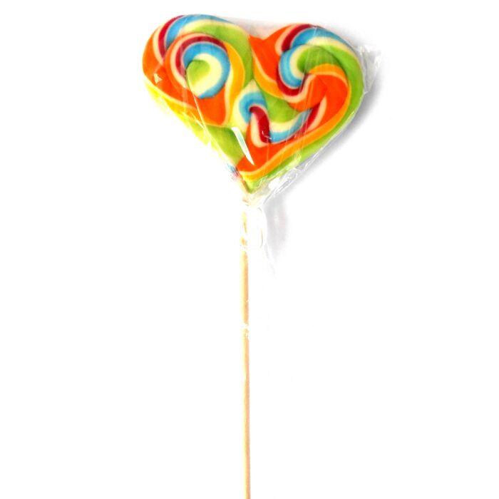 Hurrikán Heart málna ízű nyalóka közepes 110g