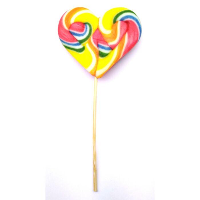 Hurrikán Heart málna ízű nyalóka 34g