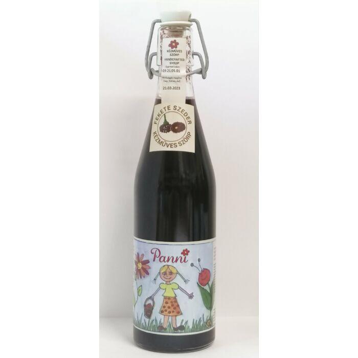 Prémium Panni Kézműves Fekete Szeder Szörp Csattosüvegben 500ml