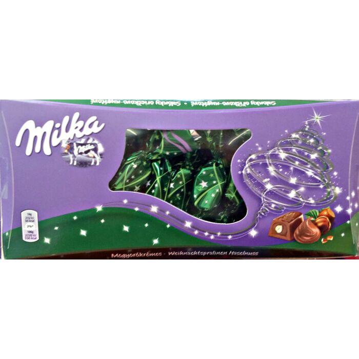 Milka Alpesi Tejcsokoládé Szaloncukor Mogyorós Krémtöltelékkel és Egész Mogyoróval 310g