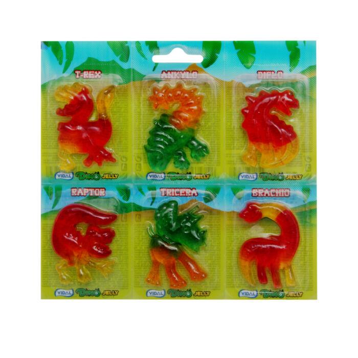 Gyümölcs ízű gumicukor - Dínó 66g (6db)